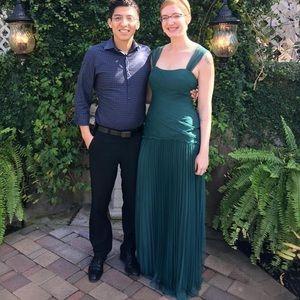 Bridesmaid Dress- Dark Green Vera Wang White